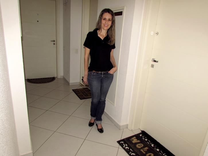 Adriana Colla, síndica do Residencial Elevato: padronização das portas está no regimento interno
