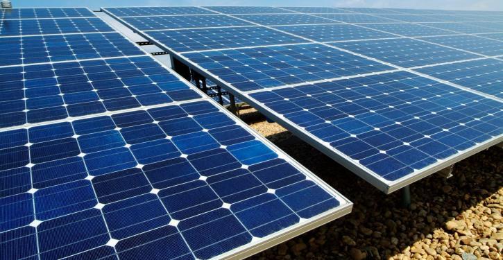 Energia solar em alta